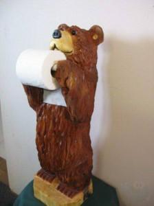 держатель-медведь для туалетной бумаги
