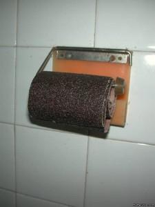 туалетная бумага наждачная