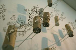 деревья из туалетной бумаги