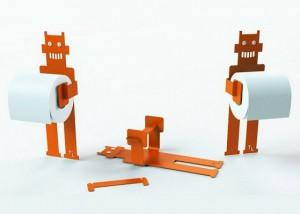 держатель для туалетной бумаги робот