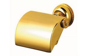 держатель для туалетной бумаги золотой